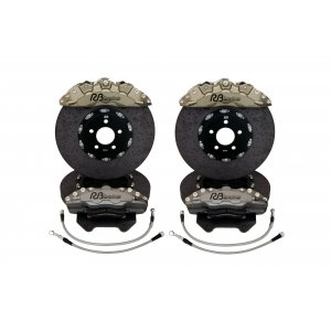 6/4 Pot Carbon Ceramic Big Brake Kit (Anodized)