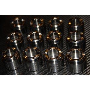 Titanium caliper piston.